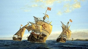 12 октября 1492 г. - день высадки Христофора Колумба на Багамских островах